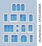window design. glass various...   Shutterstock .eps vector #1932160304