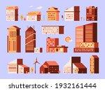 minimal houses. urban...   Shutterstock .eps vector #1932161444