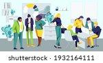 business team working on... | Shutterstock .eps vector #1932164111
