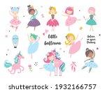 cartoon dancing ballerina in a... | Shutterstock .eps vector #1932166757
