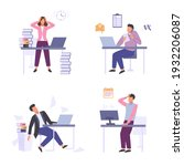 stressful situations work set....   Shutterstock .eps vector #1932206087