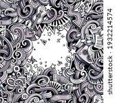 music hand drawn vector doodles ... | Shutterstock .eps vector #1932214574
