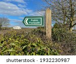 Public Footpath Sign In A Holly ...