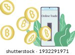 bitcoin blockchain... | Shutterstock .eps vector #1932291971