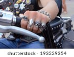 Hand Biker Close Up With A...
