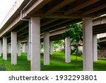 Concrete Pillar Under The Bridge