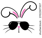 cool bunny with sunglasses  ... | Shutterstock .eps vector #1932307337