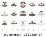 sushi restaurant logos and... | Shutterstock .eps vector #1932308414
