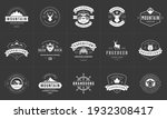 camping logos and badges... | Shutterstock .eps vector #1932308417