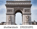 arch of triumph in paris | Shutterstock . vector #193231091