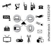 communication icons set.... | Shutterstock .eps vector #193231439