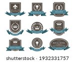emblems and badges with crowns... | Shutterstock .eps vector #1932331757