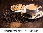 black coffee and coffee bean...
