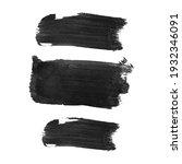 vector set with black oil paint ...   Shutterstock .eps vector #1932346091