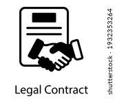 handshake and document denoting ... | Shutterstock .eps vector #1932353264