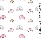 pink rainbow and cute clouds... | Shutterstock .eps vector #1932361214