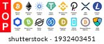 set of top cryptocurrency... | Shutterstock .eps vector #1932403451