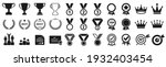 set of winning icons  victory... | Shutterstock .eps vector #1932403454