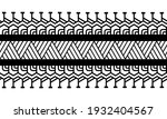 maori polynesian tattoo... | Shutterstock .eps vector #1932404567