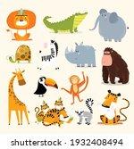 safari animals set. vector...   Shutterstock .eps vector #1932408494