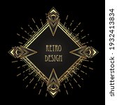 art deco vintage gold patterns... | Shutterstock .eps vector #1932413834
