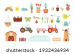 icons for farm and agriculture... | Shutterstock .eps vector #1932436934