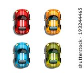 set of color race cars. vector... | Shutterstock .eps vector #193244465