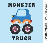 vector illustration of monster... | Shutterstock .eps vector #1932469061