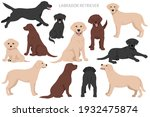 labrador retriever dogs in... | Shutterstock .eps vector #1932475874
