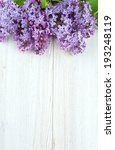 beautiful lilac on white wooden ... | Shutterstock . vector #193248119