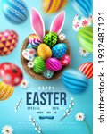 easter poster and flyer... | Shutterstock .eps vector #1932487121