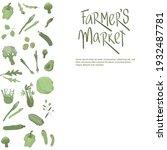farmers market handwritten sign ...   Shutterstock .eps vector #1932487781