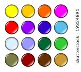 fun glossy colored buttons ... | Shutterstock . vector #19324891