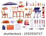 grill and barbecue icons set ... | Shutterstock .eps vector #1932533717