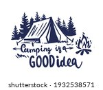 camping in nature with fir... | Shutterstock .eps vector #1932538571