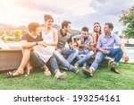 group of friend singing... | Shutterstock . vector #193254161