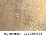 sawdust crumb lie on the wooden ... | Shutterstock . vector #1932554591