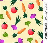 vegetables seamless pattern in...   Shutterstock .eps vector #1932642611