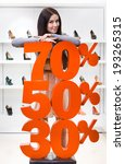 woman showing the percentage of ... | Shutterstock . vector #193265315