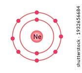 bohr model of the neon atom....   Shutterstock .eps vector #1932656684