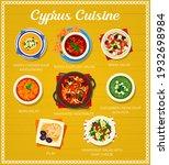 cyprus cuisine vector lemon... | Shutterstock .eps vector #1932698984