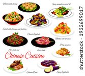 Chinese Cuisine Food Vector...