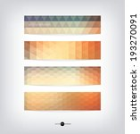 abstract vector banners with... | Shutterstock .eps vector #193270091