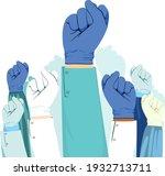 super hero doctors and nurses... | Shutterstock .eps vector #1932713711