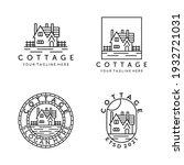 cottage line art set bundle...   Shutterstock .eps vector #1932721031