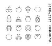 fruit icon illustration set.... | Shutterstock .eps vector #1932748634