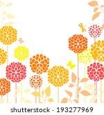 spring meadow flowers | Shutterstock .eps vector #193277969