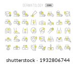 dermatology. collection of... | Shutterstock .eps vector #1932806744