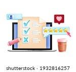 online vector survey  internet... | Shutterstock .eps vector #1932816257