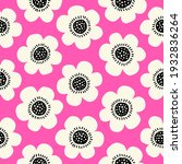cute hand drawn floral seamless ... | Shutterstock .eps vector #1932836264